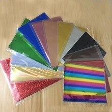 Feuille de papier à estampage à chaud   Neuf, doré, noir, rouge, lamineuse, transfert sur élégance, imprimante Laser, 20x29cm, A4, 50 pièces
