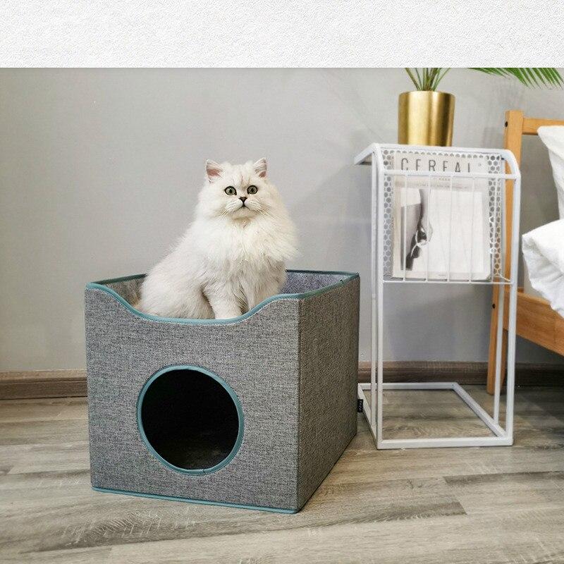 Cama de Gato plegable de verano cerrada con sueño profundo, casa de gato universal para las cuatro estaciones, casa de gato, cama de Gato, alfombrilla para gatos, cojín para gatos