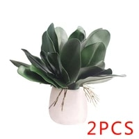 2pcs phalaenopsis leaf artificial plant leaf decorative flowers auxiliary material flower decoration orchid leaves real touch