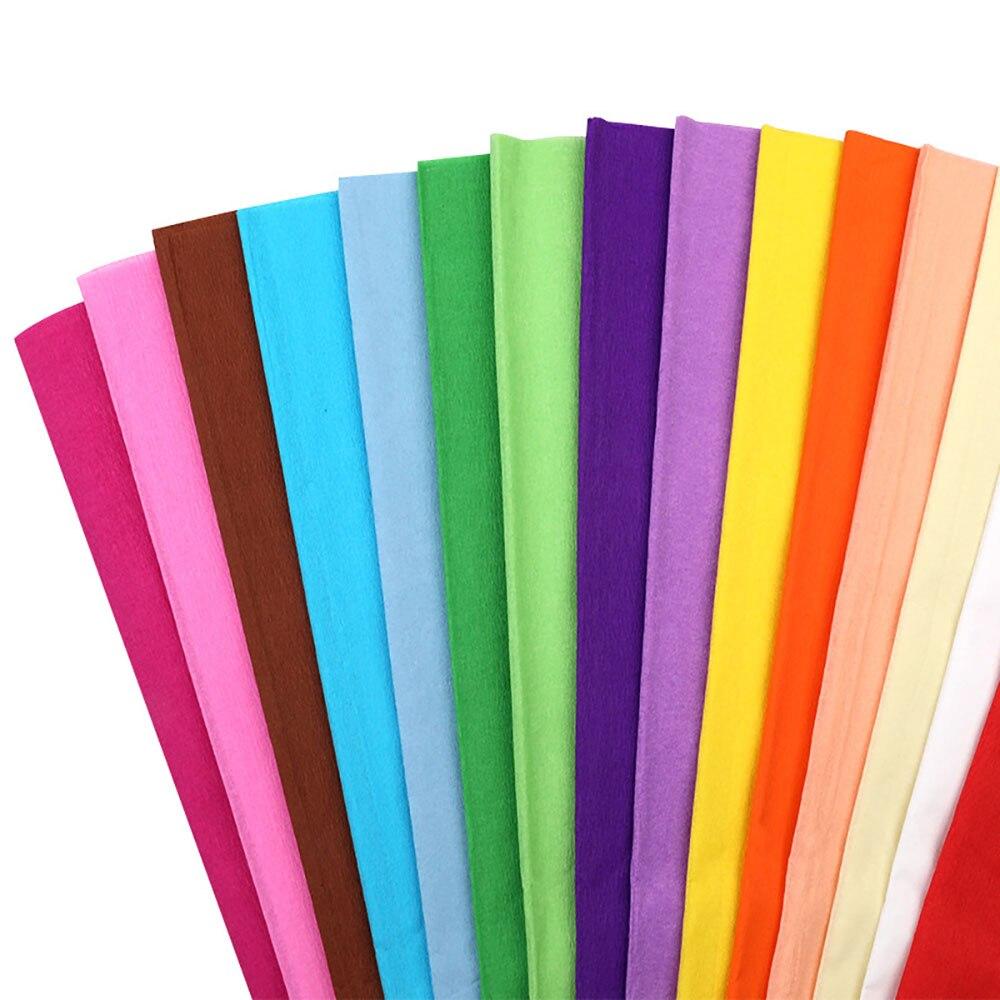 Papel crepé Origami DIY, rollo de papel arrugado para decoración para fiesta de boda, fabricación de tarjetas, papel para álbum de recortes DIY