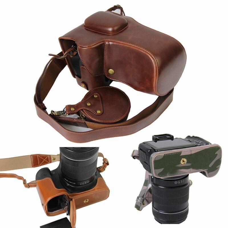 Funda de cuero PU para cámara Canon EOS 90D 80D 70D 60D 80D2 80DII con apertura de batería