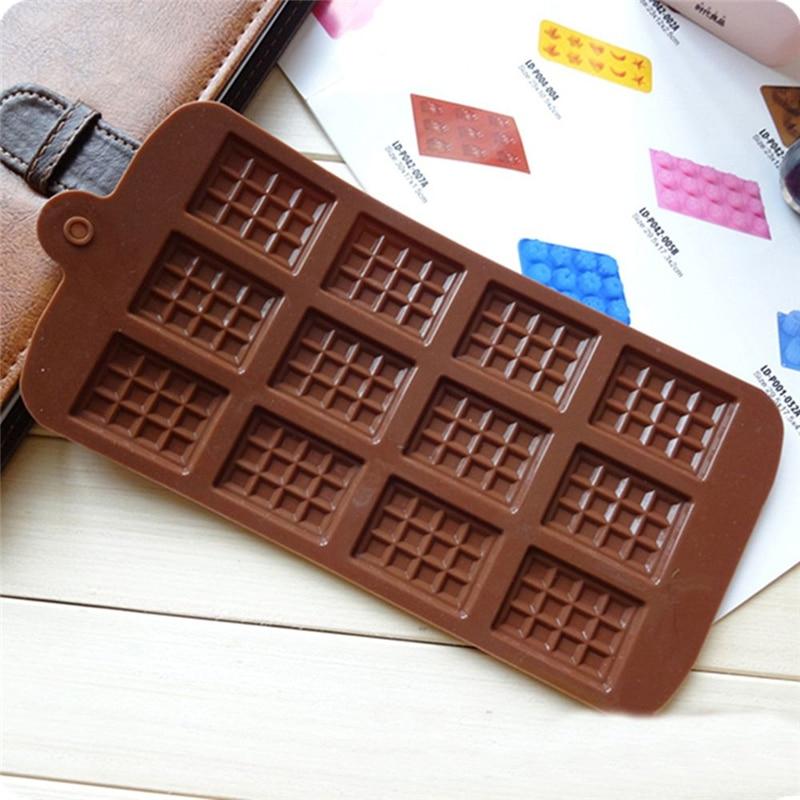 1Pcs 12 Sogar Silikon Form Schokolade Mold Fondant Formen DIY Candy Bar Form Ice Tray Kuchen Dekoration Küche Backen zubehör