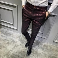 2021 brand clothing mens high quality design comfortable business suit pantsmale slim fit printing leisure blazers trousers