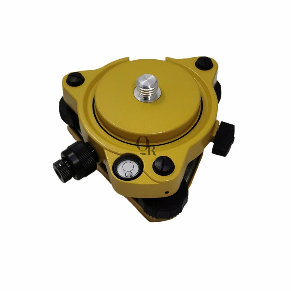تريبراش أصفر مع بلوميت بصري ومحول GPS تريبراتش ، حامل بمسمار دوار 5/8 بوصة x11 لمحطة GPS الكلية GNSS