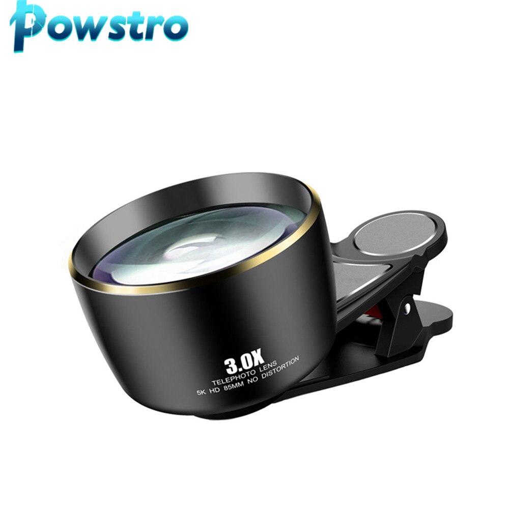 3.0X telescopio teleobjetivo 5K HD 85MM teléfono Camra Portrait lentes para IPhone Huawei la mayoría de Smartphones fácil de instalar