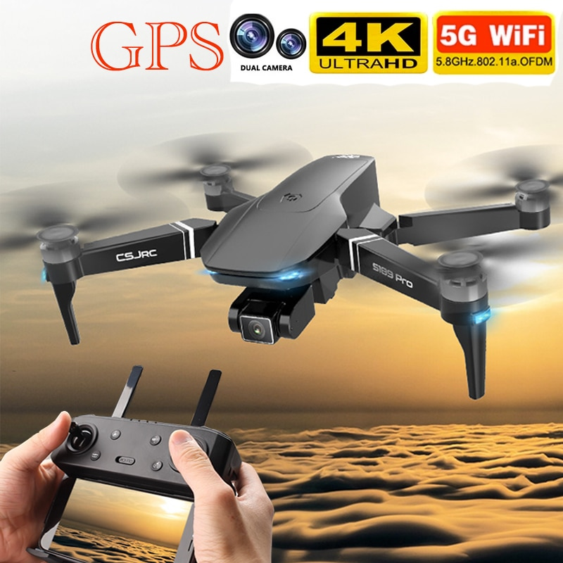 Dron plegable S189 PRO, portátil, Profesional, 4K, HD, Yuntai, cámara, posicionamiento GPS, Motor sin escobillas, imagen Wifi 5G, Juguetes