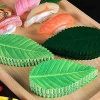 200pcset japanese cuisine green leaf sushi decoration tray sashimi sushi decoration fresh ingredients plate dish sushi tool
