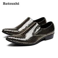 batzuzhi formal mens dress shoes leather luxury handmade pointed toe businesswedding oxford shoes men big sizes us6 12