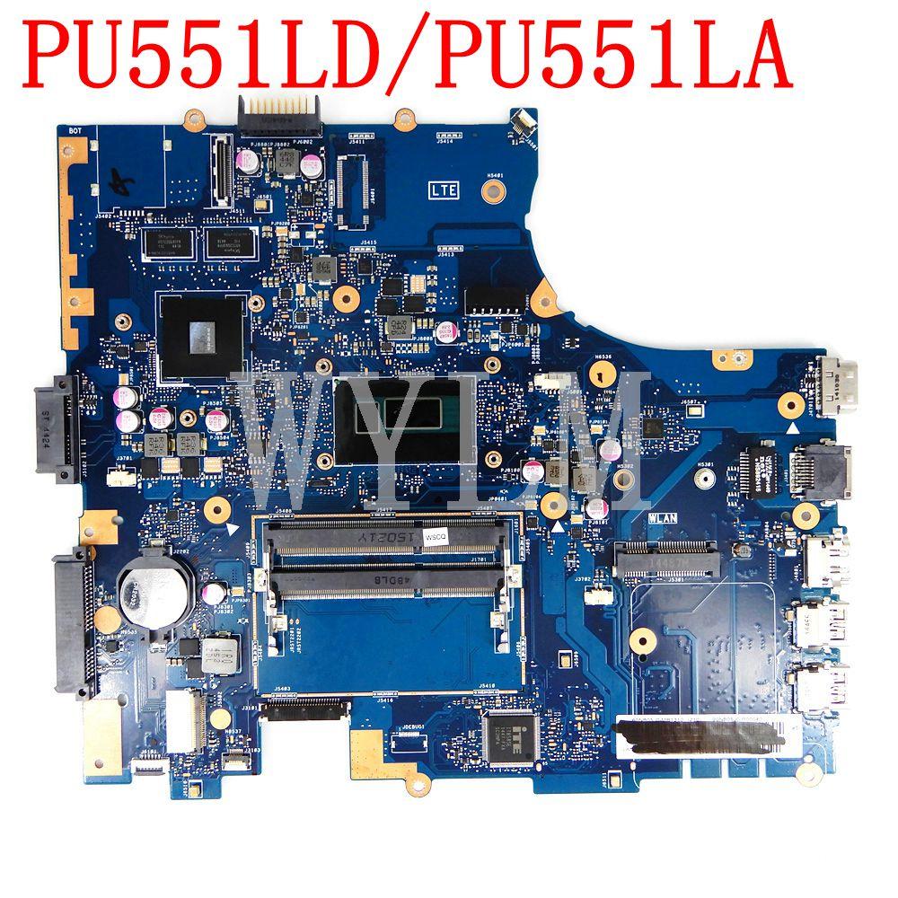 PU551LD اللوحة الأم I5 CPU GT820M/1G ، لجهاز ASUS PRO551L ، PU551LD ، PU551LA ، PU551L ، PU551 ، اللوحة الأم للكمبيوتر المحمول ، تم اختبارها بنسبة 100%