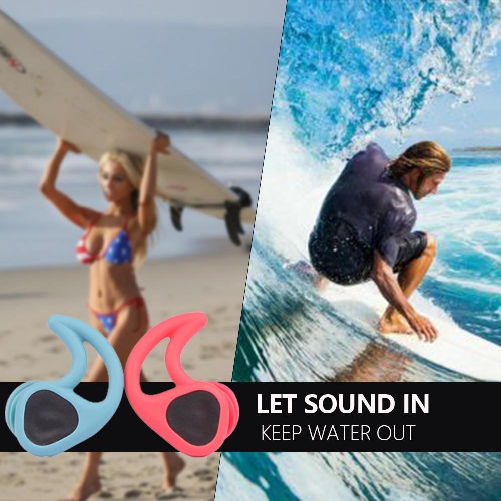Innovation design Swimming Ear Plugs Soft Silicone Sound penetration Waterproof Dust-Proof Earplugs