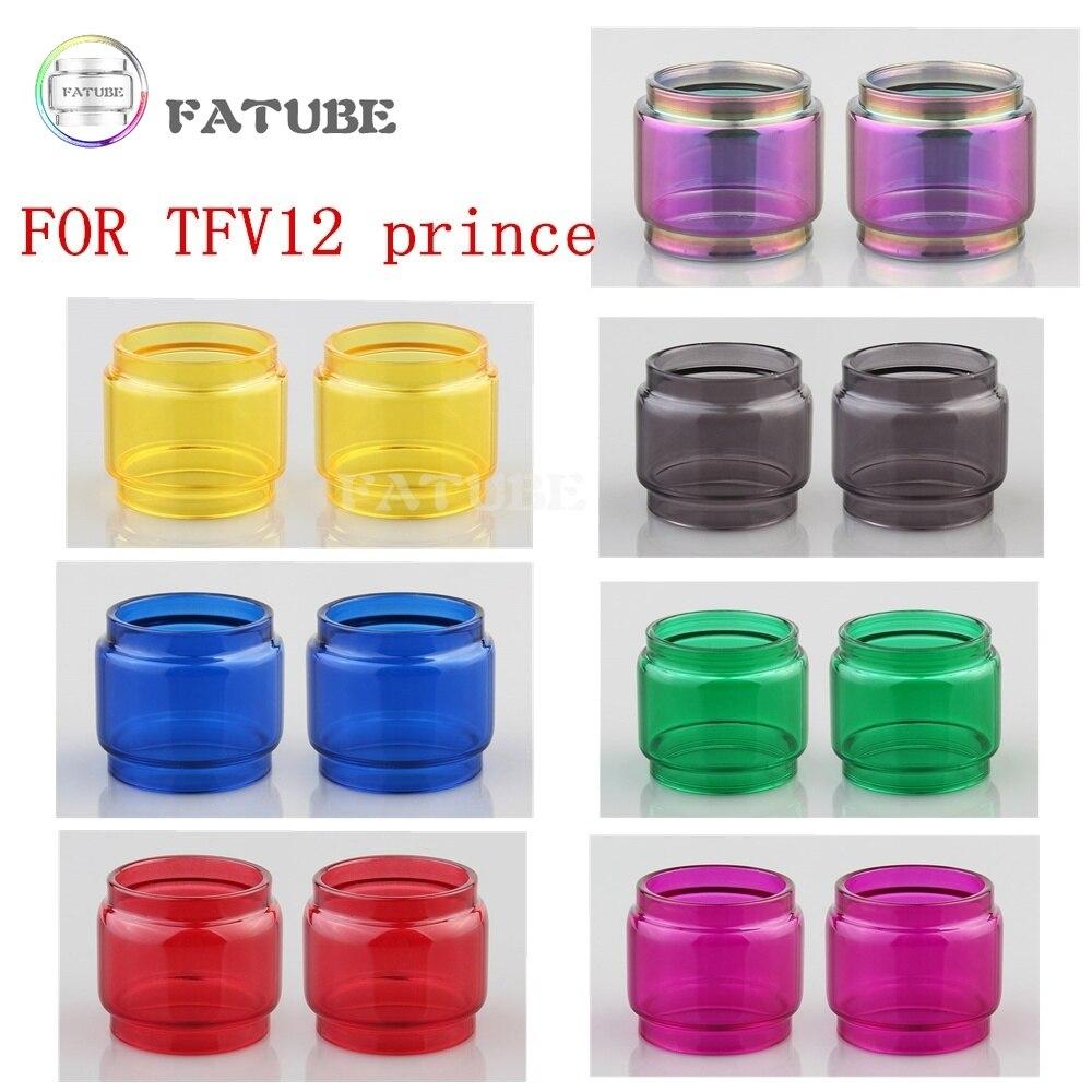 FATUBE Arco Iris burbuja tubo de vidrio para TFV12 Príncipe cobra palo Príncipe E X T-Hotel Itatiaia de TF-RTA G4 Sub Ohm tanque de malla de 24 RTA de color