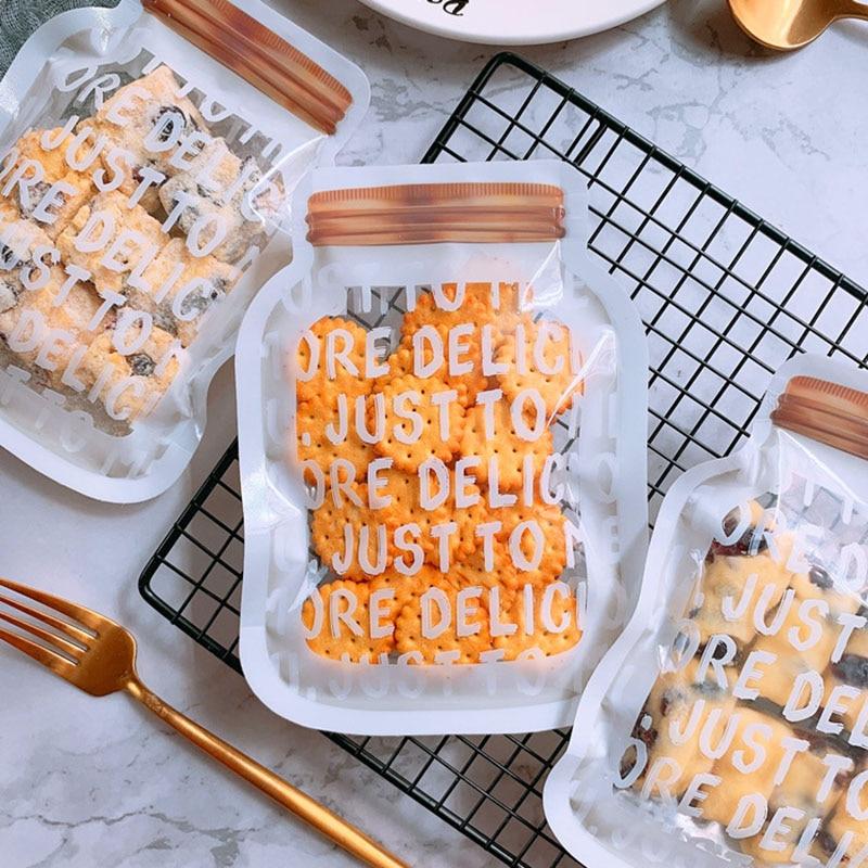 50pcs English Alphabet Snowflake Crisp Packaging Bag Self Sealing Bag Thickened Nougat Bag Creative Nougat Cookie Food Bag