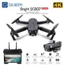 Salmoph SG107 Mini Drone mit 4K WIFI FPV HD Dual Kamera Quadcopter Optischen Fluss Rc Eders Geste Steuer Kinder spielzeug VS E58 E68