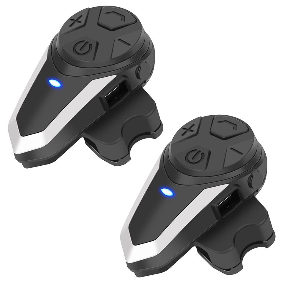 BT-S3 2pcs Intercom Motorcycle Helmet Bluetooth HeadsetHeadphones Motorbike Communication System FM Radio