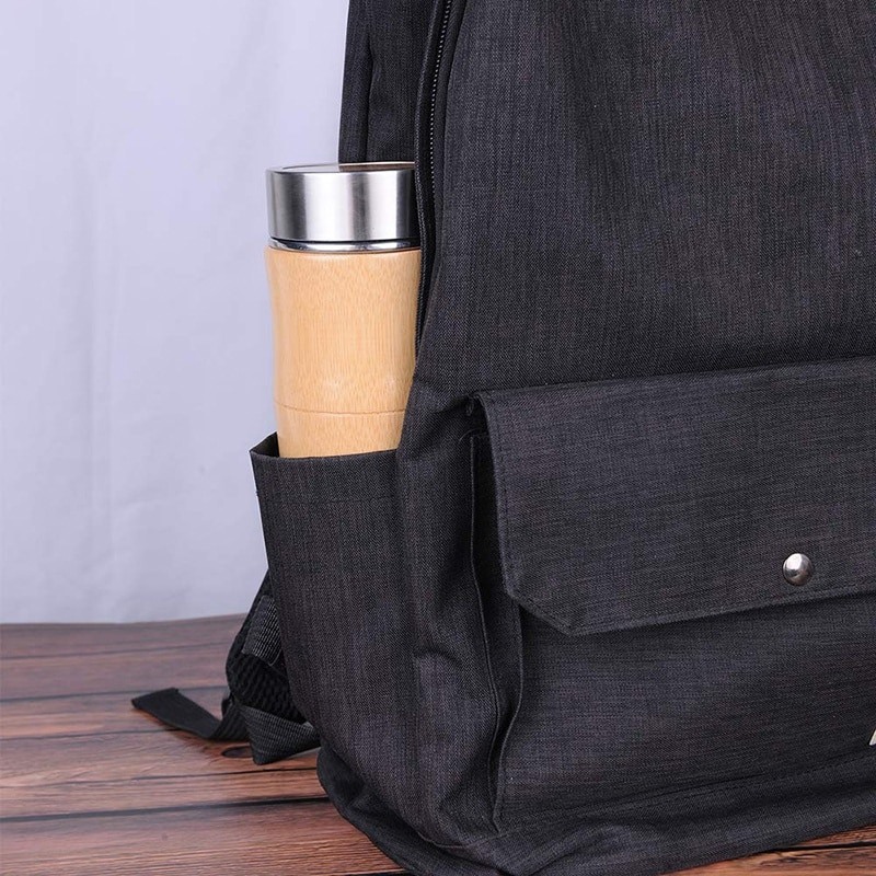 400Ml Coffee Mugs Stainless Steel Tumbler Thermo Cup Drinking Tea Milk Bamboo Fashion Insulation Water Bottle Travel Mug  - buy with discount