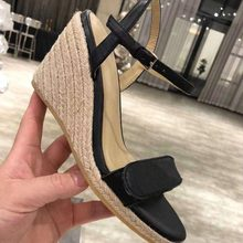 Ollymurs New Summer Open Toe Ankle Strap Luxury Brand Wedges Runway Sandals Shoes Women