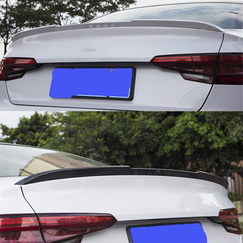 CEYUSOT FOR Auto Spoiler Wing New Audi A4 B9 Abs Material Car Trunk Rear Lip Color Tail Fin Refit Ac