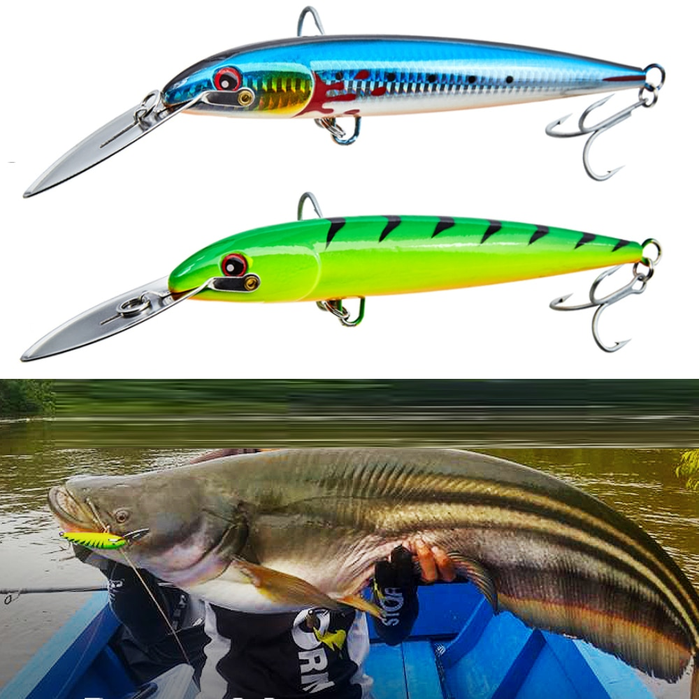 NOEBY nbl9904 Countdown Magnum Hard Body Lure Big Minnow tuna fishing bait 130 185 225mm stainless steel lip lure for seabass