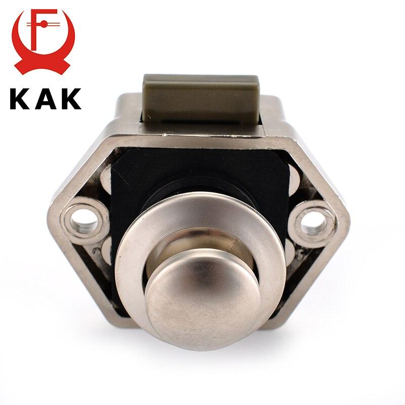 KAK Camper Car Push Lock Diameter 20mm RV Caravan Boat Motor Home Cabinet Drawer Latch Button Locks Furniture Door Lock Hardware