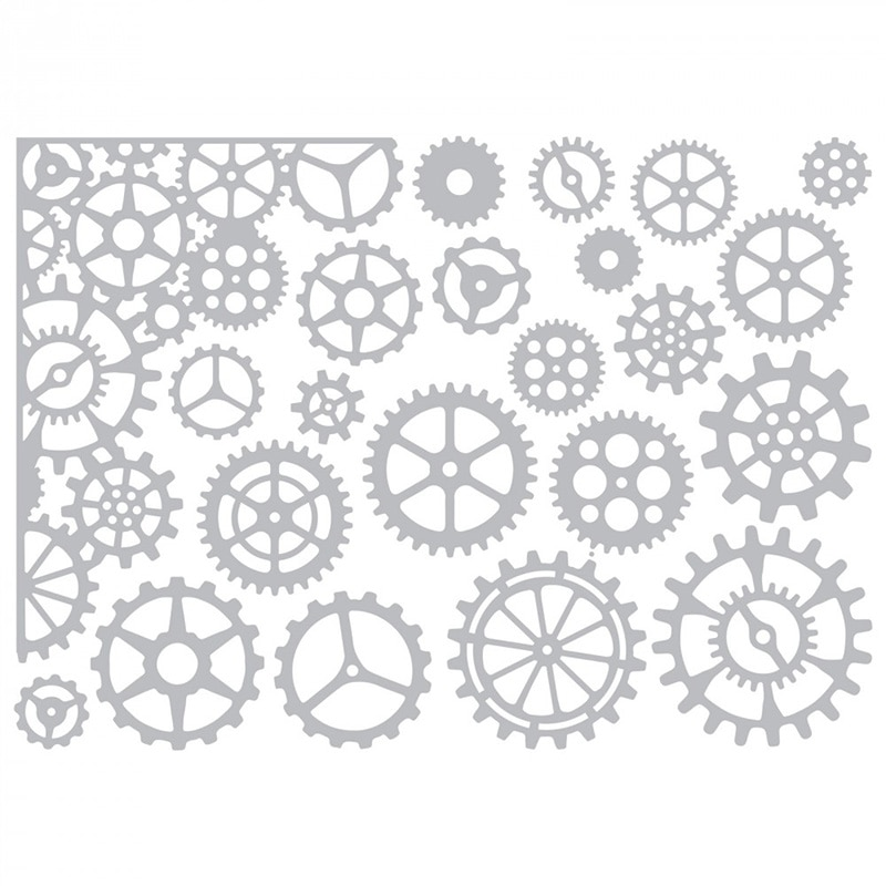 2020 New Gear Circle Metal Cutting Dies and Background Die Paper Cut Scrapbooking For Crafts Card Ma