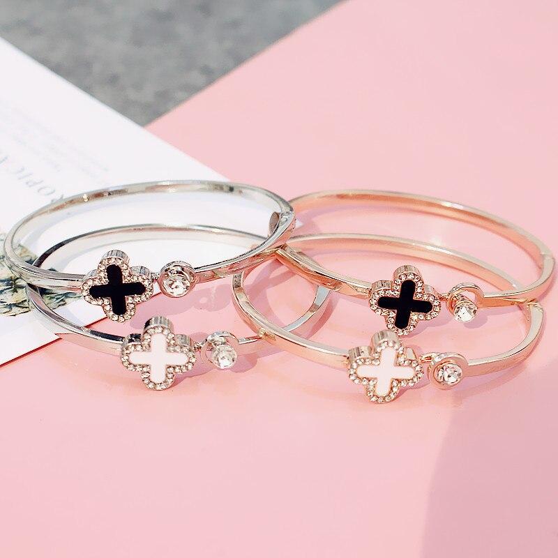 Nova rosa de ouro feminino pulseira versátil moda jóias simples pulseira pulseiras metal jóias para feminino melhor presente dropshipping
