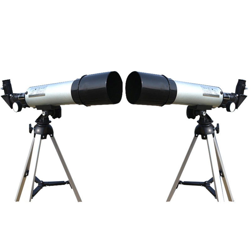 Nueva oferta telescopio astronómico para exteriores, sistema óptico de refracción Stargazing de nivel de entrada para estudiantes con trípode Universal para cámara