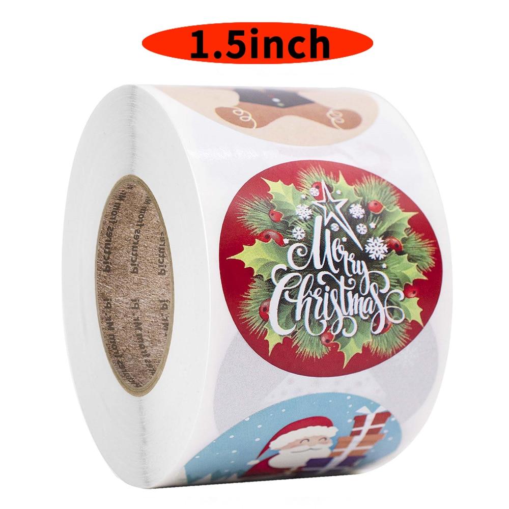 500 pcs feliz natal adesivos 15 polegada boneco de neve natal arvore decorativo adesivos