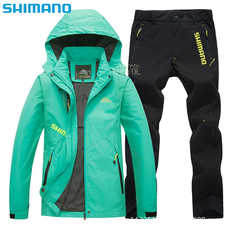 Shimano Fishing jacket waterproof Outdoor mountaineering Thermal Fishing Clothing Windproof Hooded fishing clothes soft shell enlarge