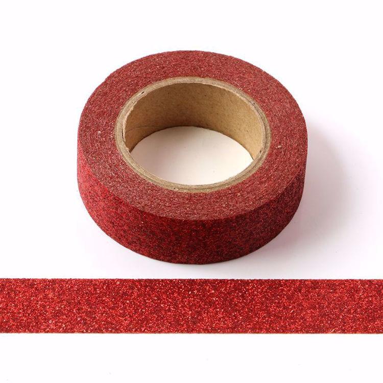 10pcs/Lot Red powder Washi Tape Glitter Japanese Stationery 15mm* 5meter Kawaii Paper Scrapbooking Tools Decorative Tape Mask
