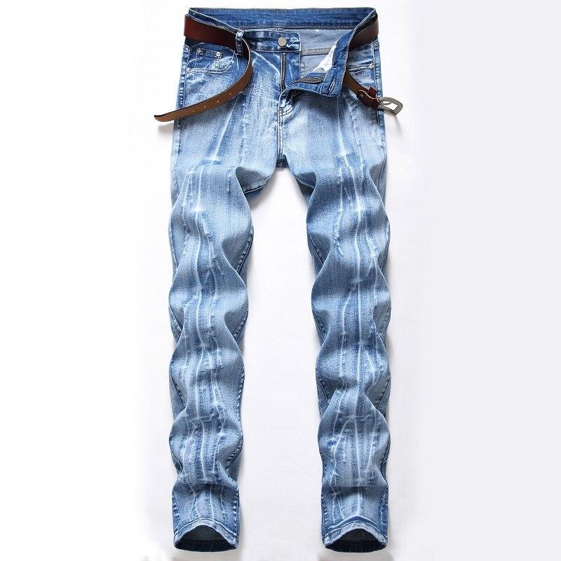 Новинка 2021, модные эластичные светлые темные джинсы с популярным логотипом, мужские прямые штаны, ностальгические классические белые мужск...