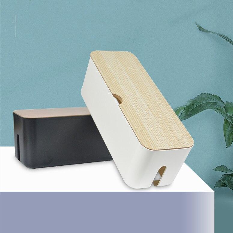 Cabo de armazenamento em casa caixa de gestão cabo caixa organizador tira energia protetor contra surtos capa tv cabo caixa para escritório casa decoração presente
