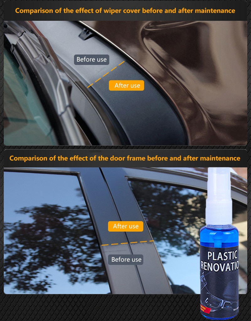 30ml Plastic Parts leather Retreading Agent Wax Instrument Panel Auto Interior Auto Plastic Renovate
