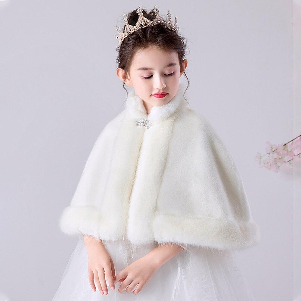 [KDMP03] 5 قطعة طفل الشتاء الدافئة فو الفراء قصيرة عباءة فتاة رشاقته تتغاضى الطفل شال الرأس بالجملة