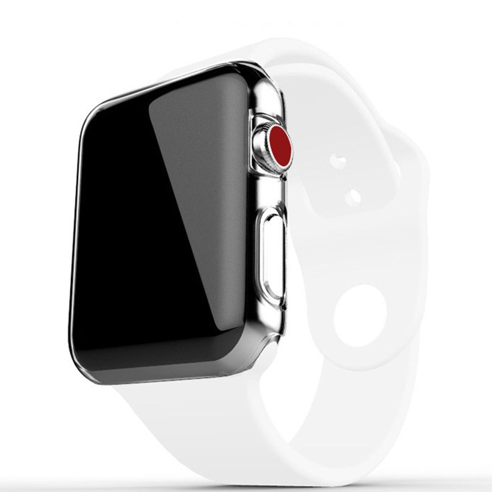 Clear Soft TPU Full Protect Cover for Apple Watch Case 38mm 42mm for iWatch Series 4 3 2 Cover Shell Band New