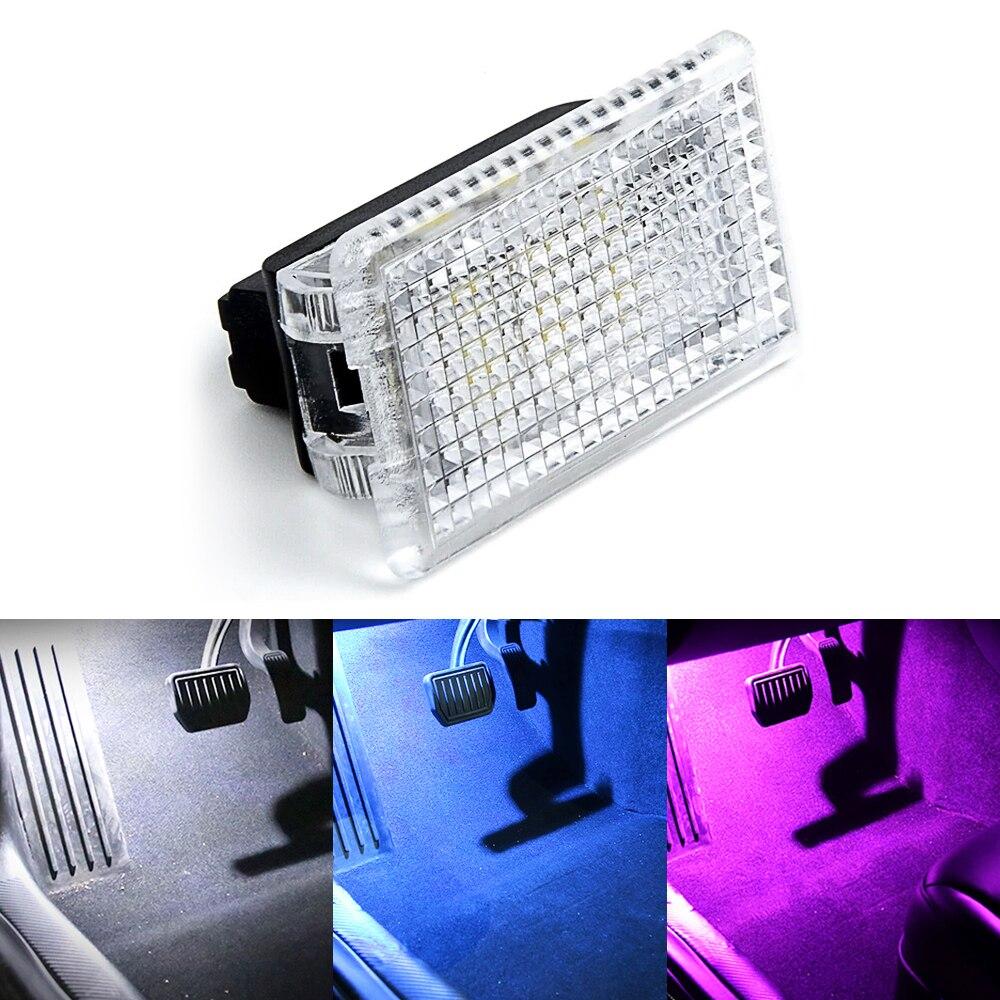 1 pièces voiture LED intérieur ampoules pour Tesla modèle 3 S X accessoires boîte à gants lecture porte coffre Auto lampe blanc bleu violet