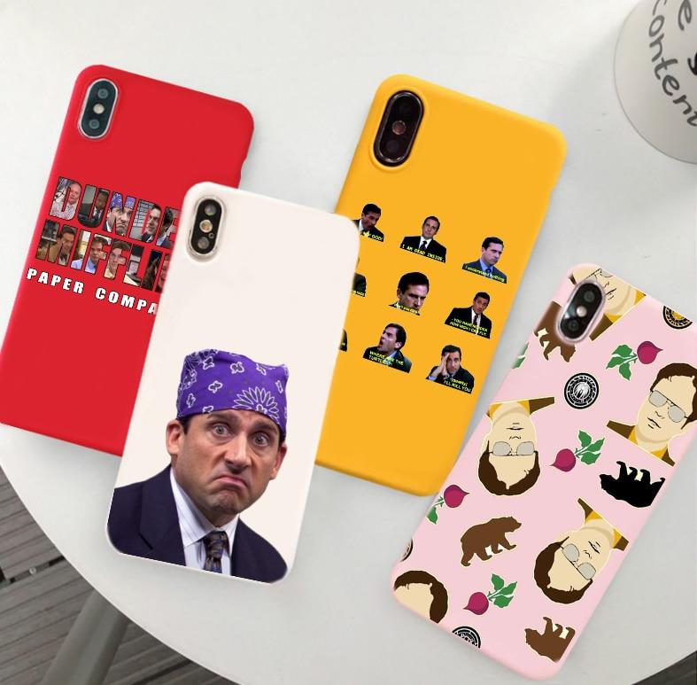 Michael Scott, la Oficina divertido Humor del Color del caramelo de la caja del TPU del teléfono para iphone X 7 XS XR XSMAX 11 11Pro caso cubierta