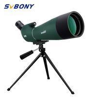 SVBONY SV28 Spotting Scope 20-60x80mm Zoom Telescope Waterproof BK7 Prism FMC High Quality New Version F9308 for Hunting
