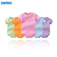 Multi color baby's short sleeve triangle Khaki garment newborn baby's cotton net color bottom pack f