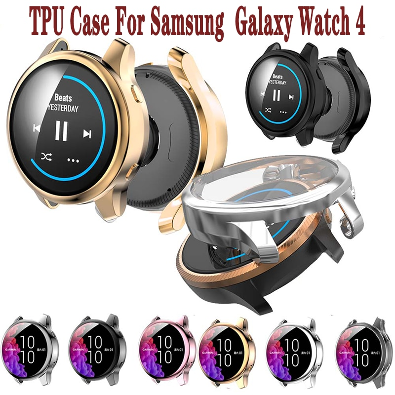 case for samsung galaxy watch 46mm 42mm strap tpu plated screen protector cover bumper s 3 42 46 mm gear s3 frontier band Case for samsung Galaxy watch 4 classic 46mm/42mm TPU Plated cover all-around bumper Screen protector Galaxy watch 4 44mm 40mm