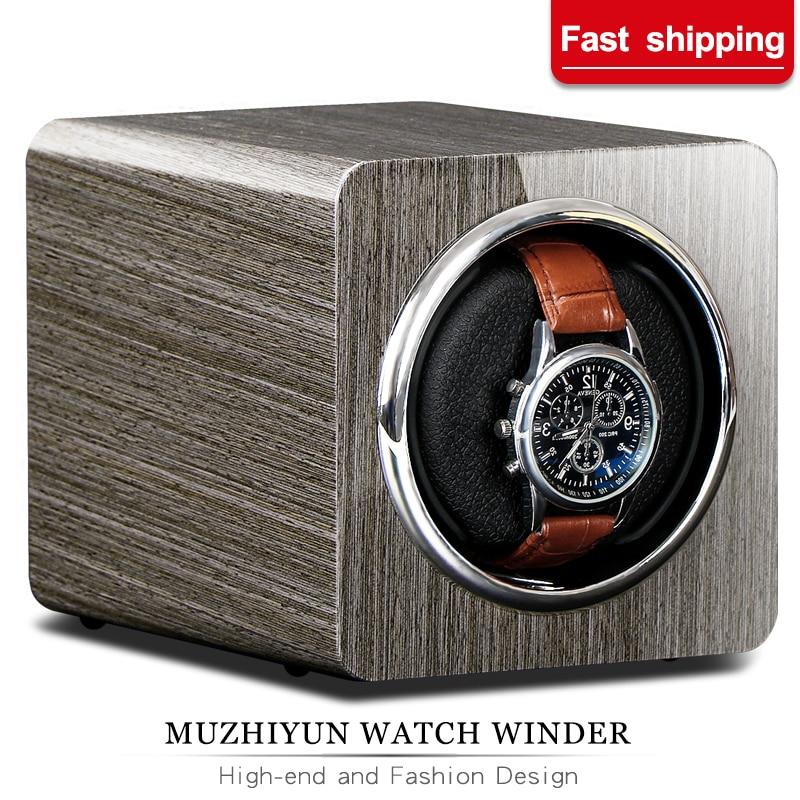 Automatic Watch Winder Box Uhrenbeweger Mechanical Display Single Slot Watch Box With Adapter And Battery Supply