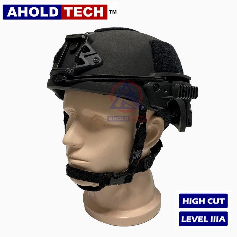 Casco balístico Aholdtech auténtico ISO NIJ IIIA, equipo de corte alto ligero, estilo Wendy, a prueba de balas, para combate del ejército, policía, Airsoft