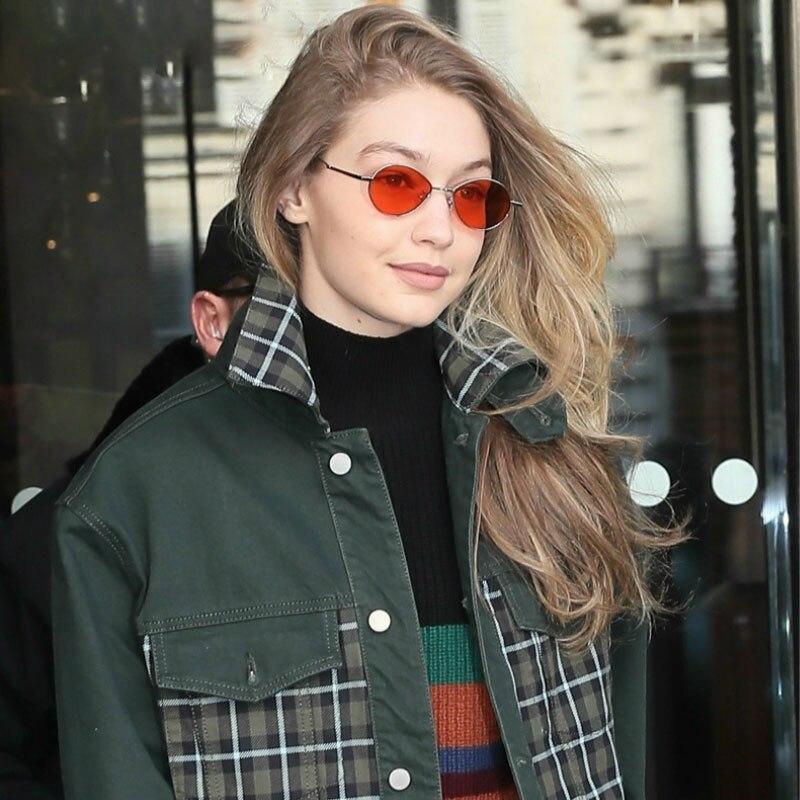 Солнцезащитные очки в винтажном стиле женские, небольшие овальные стильные солнечные очки в стиле ретро, с защитой от ультрафиолета, чёрные