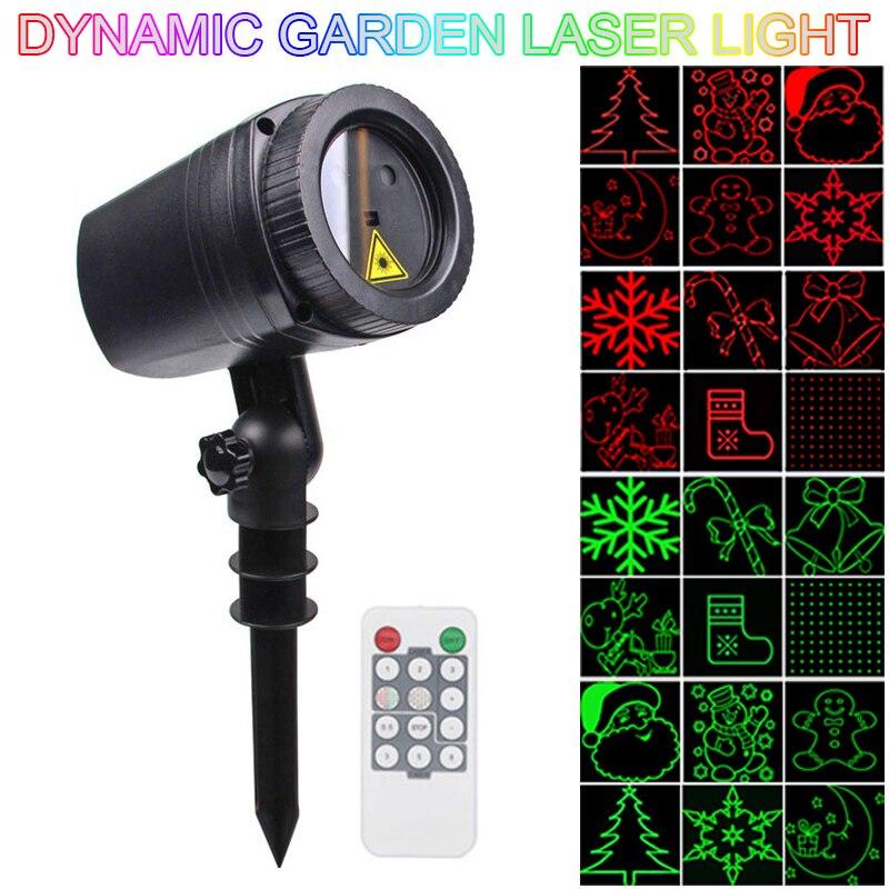 WL-502A lámpara LED de 12 patrones resistente al agua para exteriores, lámpara de césped dinámico, proyector láser con Control remoto RF adecuado para fiestas festivas