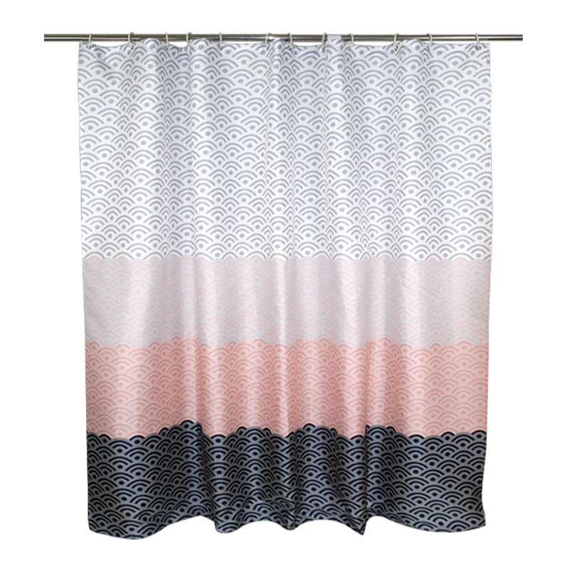 Nordic Shower Curtain Geometric Color Bath Curtains Wifi Pattern Extra Large Waterproof Thickened Polyester Luxury Hanging Hole enlarge