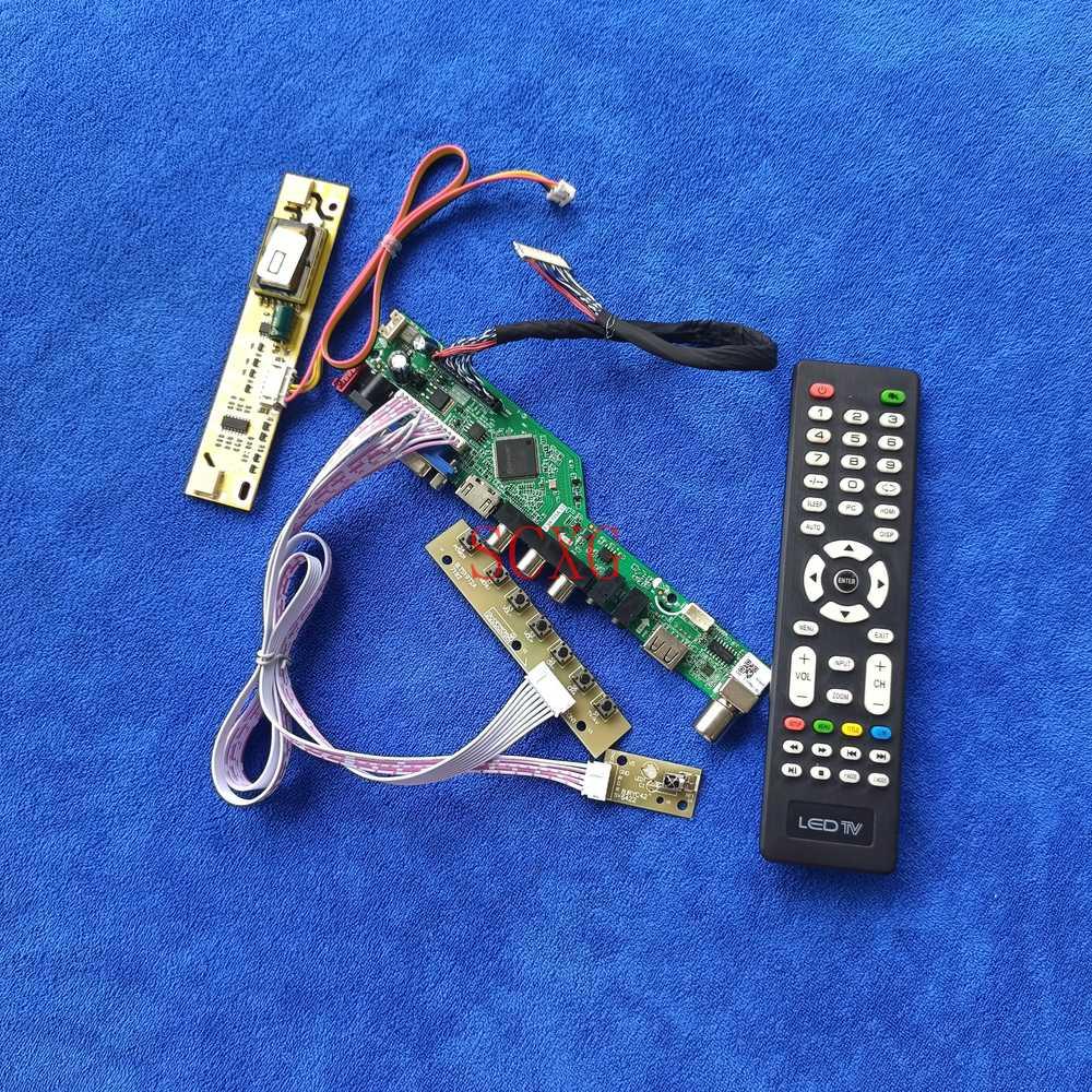 ل CLAA185WA02/CLAA185WA03/CLAA185WA05 التناظرية إشارة 1366*768 LVDS 30 دبوس HDMI-متوافق VGA AV وحدة تحكم USB مجلس 2CCFL عدة