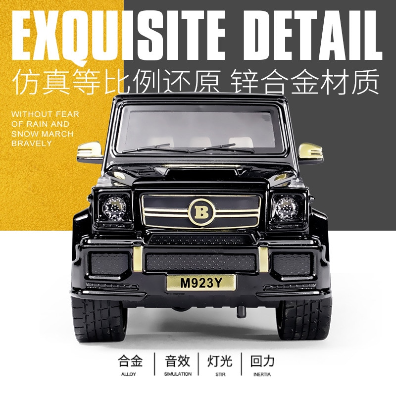1:24 Diecast Toy Car Model Metal Toy Vehicle Wheels G65 High Simulation Sound And Light Pull Back Car Collection Kids cars toys 1 24 diecast alloy car model metal car toy wheels toy vehicle simulation sound light pull back car collection kids toy car gift