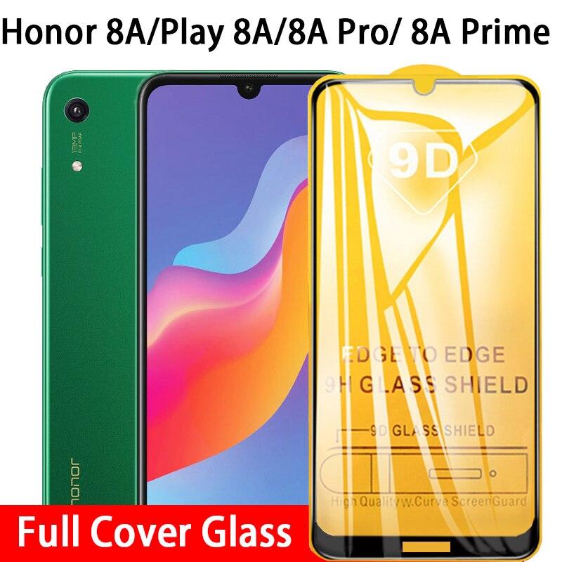 9D закаленное стекло с полным клеем для Huawei Honor 8A Prime Play 8 A Pro Honor8 A 8aprime 8apro 6,09 Защитная пленка для экрана