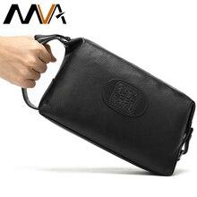 MVA Genuine Leather Men Make Up Bag Travel Cosmetic/Organizer Bag Leather Womens Cosmetic/Toilet Bags Waterproof Makeup Case