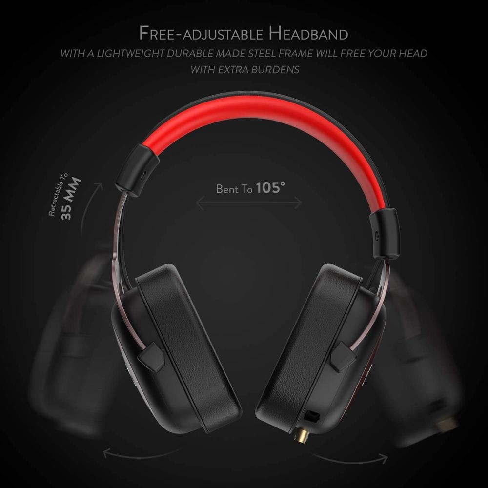 H510 Zeus wired game headset 7.1 Surround sound memory foam ear pad with removable microphone for PC/PS4 and Xbox One enlarge