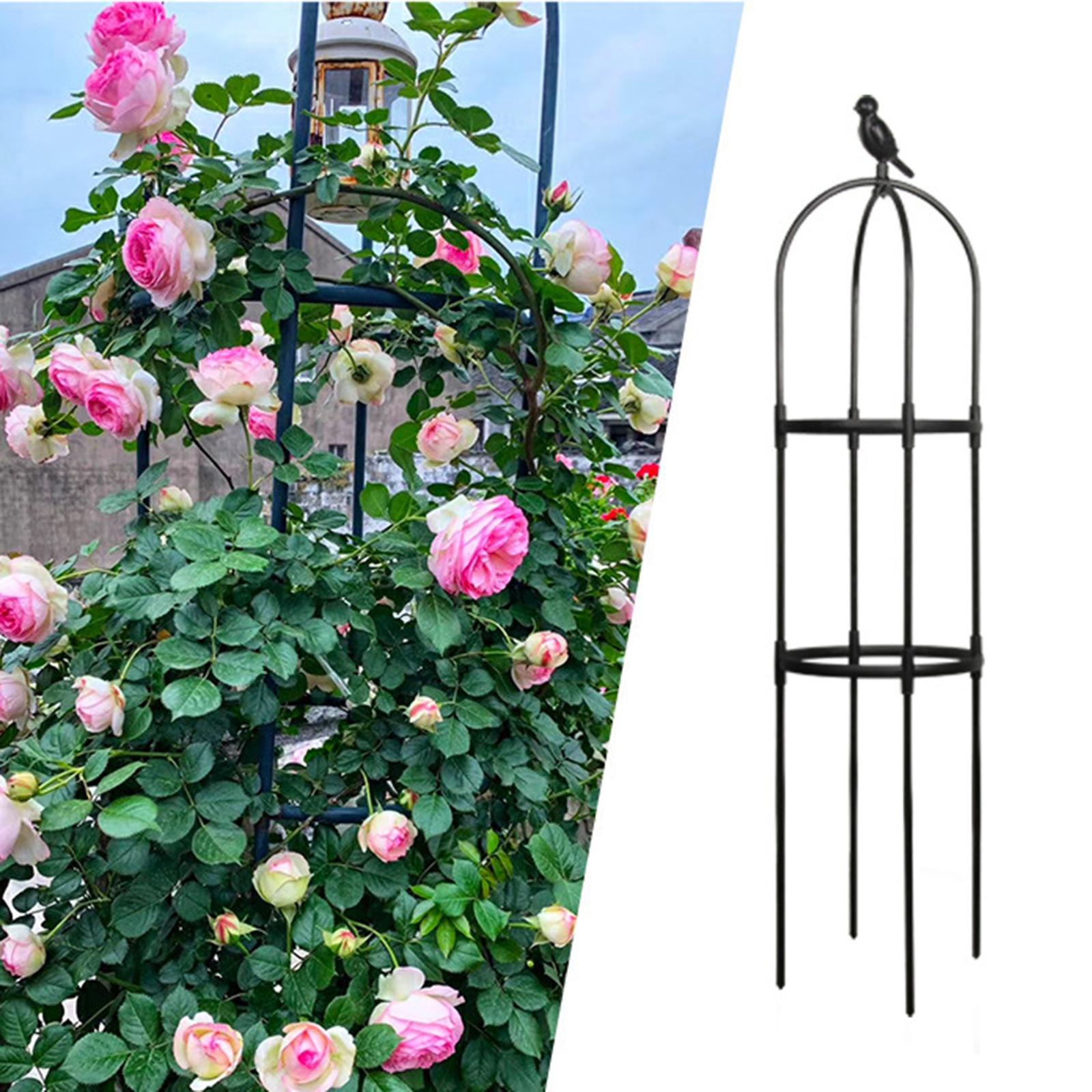 120 سنتيمتر حديقة تعريشة تسلق الكرمة رف في الهواء الطلق البلاستيك المغلفة الحديد المنزل خفيفة الوزن ودائم إطار دعم النبات